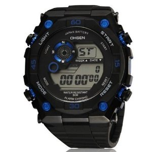 Relógio Masculino Ohsen AnaDigi Esporte 2810 Azul