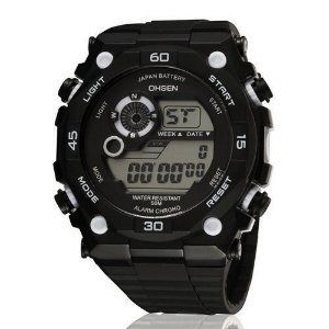 Relógio Masculino Ohsen AnaDigi Esporte 2810 Branco