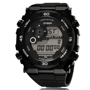 Relógio Masculino Ohsen AnaDigi Esporte 2810 Preto