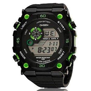 Relógio Masculino Ohsen AnaDigi Esporte 2810 Verde