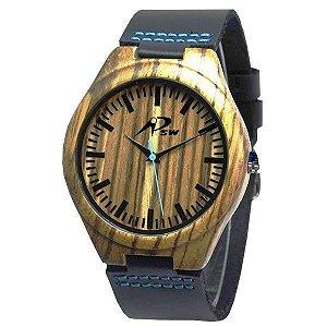 Relógio Masculino PSW Analógico Madeira PSW2 Preto