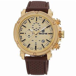 Relógio Masculino Skone Analógico 5148EG Dourado