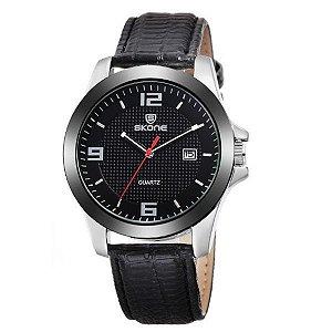 Relógio Masculino Skone Analógico 9180BR Preto
