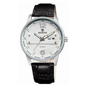 Relógio Masculino Skone Analógico 9275AG Branco
