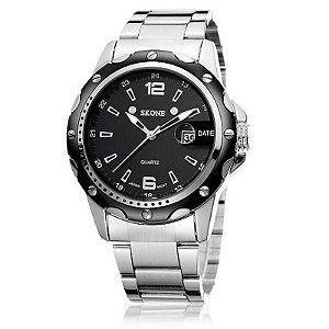 Relógio Masculino Skone Analógico Casual 7147BG Preto