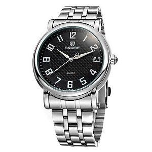 Relógio Masculino Skone Analógico Casual 7214G Preto