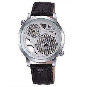 Relógio Masculino Skone Analógico Casual 9248EG Preto