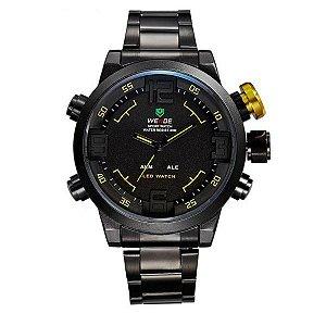 Relógio Masculino Weide AnaDigi WH-2309B - Preto e Amarelo