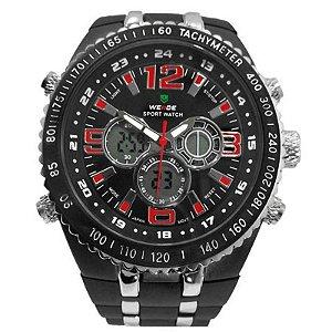 Relógio Masculino Weide AnaDigi Casual WH-1107 Vermelho