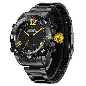 Relógio Masculino Weide AnaDigi Esporte WH-2310 - Amarelo