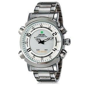 Relógio Masculino Weide AnaDigi Esporte WH-1101 - Branco