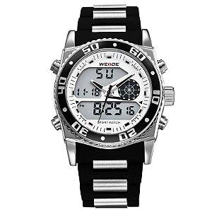 Relógio Masculino Weide AnaDigi Esporte WH-2316 Branco