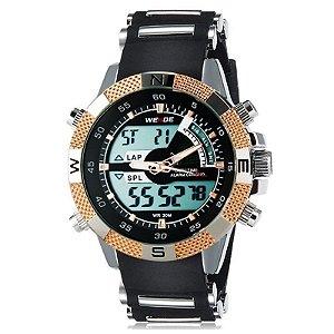 Relógio Masculino Weide AnaDigi Esporte WH-1104 Dourado