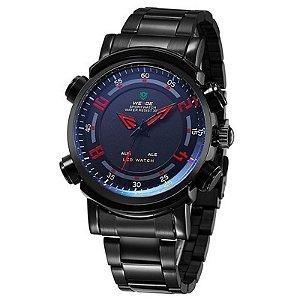 Relógio Masculino Weide AnaDigi Esporte WH-1101 -Vermelho