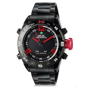 Relógio Masculino Weide AnaDigi Esporte WH-2310 - Vermelho