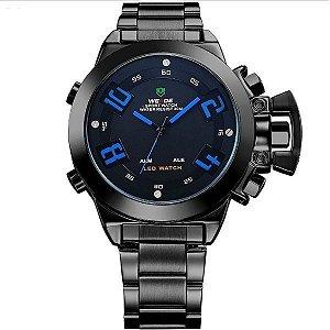 Relógio Masculino Weide Anadigi WH-1008 Preto e Azul