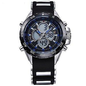 Relógio Masculino Weide Anadigi WH-1103 Preto e Azul