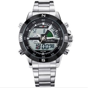 Relógio Masculino Weide Anadigi WH-1104 Preto