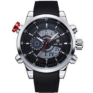 Relógio Masculino Weide Anadigi WH-3401 Preto