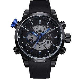 Relógio Masculino Weide Anadigi WH-3401 PT-AZ