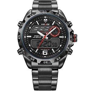 Relógio Masculino Weide Anadigi WH-3403 - Preto - Vermelho