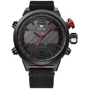 Relógio Masculino Weide Anadigi WH-6101 Vermelho