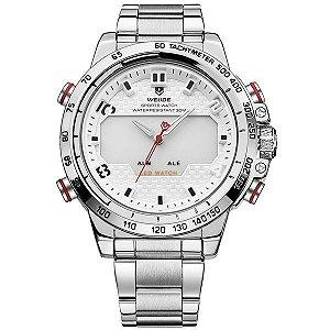 Relógio Masculino Weide Anadigi WH-6102 Branco