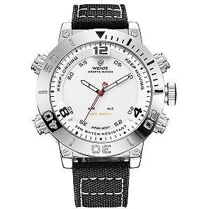 Relógio Masculino Weide Anadigi WH-6103 Branco