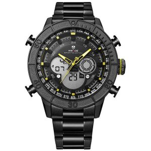 Relógio Masculino Weide Anadigi WH-6308 Amarelo