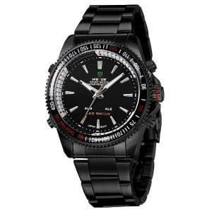 Relógio Masculino Weide Anadigi WH-903 Preto
