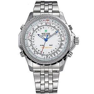Relógio Masculino Weide Anadigi WH-904 Branco