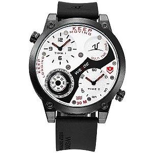 Relógio Masculino Weide Analógico UV-1505 - Preto - Vermelho