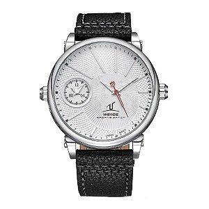 Relógio Masculino Weide Analógico UV-1508 - Preto, Prata e Branco