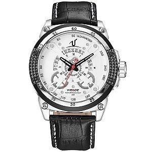 Relógio Masculino Weide Analógico UV-1605 Branco