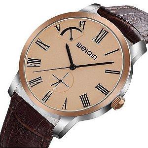 Relógio Masculino Weiqin Analógico Casual W23056 Cobre
