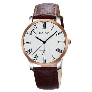 Relógio Masculino Weiqin Analógico Casual W23056 Prata e Dourado
