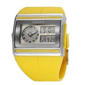 Relógio Unissex Ohsen AnaDigi Esporte AD0518 Amarelo