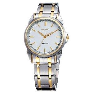 Relógio Unissex Weiqin Analógico Casual W0031AG Branco