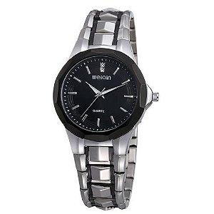 Relógio Unissex Weiqin Analógico Casual W0099 Preto