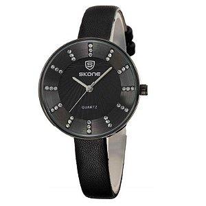 Relógio Feminino Skone Analógico Casual 9250 Preto