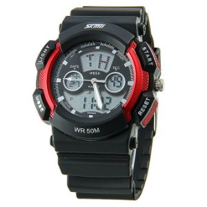 Relógio Masculino Skmei Anadigi 0895 Vermelho