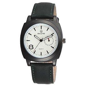 Relógio Masculino Analógico Skone 9385EG Verde