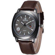 Relógio Masculino Analógico Skone 9385EG Marrom