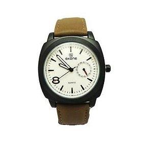 Relógio Masculino Analógico Skone 9385EG Verde Musgo