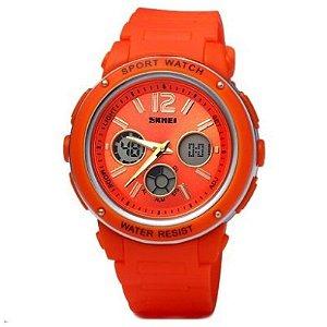 Relógio Skmei Anadigi 1051 Laranja