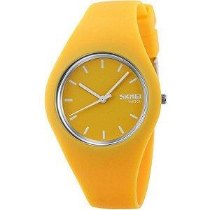 Relógio Feminino Skmei Analógico 9068 - Amarelo e Branco