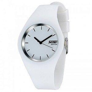 Relógio Skmei Analógico 9068 Branco