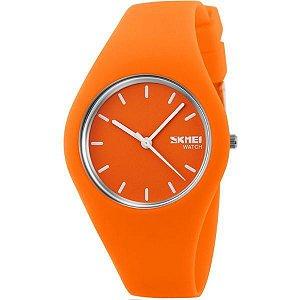 Relógio Feminino Skmei Analógico 9068 Laranja