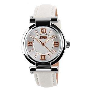 Relógio Feminino Skmei Analógico 9075 Branco