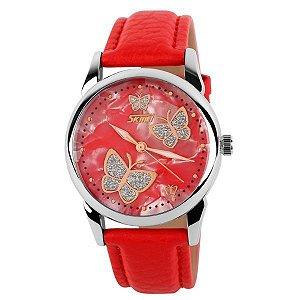 Relógio Feminino Skmei Analógico 9079 - Vermelho